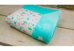 Baby Blanket Spring Kites - ORGANIC BAMBOO & ORGANIC COTTON