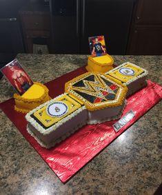 DIY WWE Wrestling Party Cake Wrestling Birthday Parties, Diva Birthday Parties, Superman Birthday Party, 8th Birthday Cake, Boy Birthday, Kid Parties, Birthday Ideas, Wrestling Cake, Wrestling Party