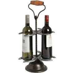 horse shoe wine bottle rack | Horse Shoe 3 Bottle Wine Rack (11454) | Black Accessories | Wholesale ...