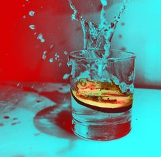 Drinking Acid - water splash from the glass from, MP XQS-I