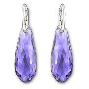 Pure Purple Velvet Pierced Earrings