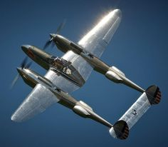 Lockheed P-38 Lightning via Aero-Pictures. More Airplanes here.