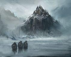 Viking Castle by Reza-Afshar-Art.deviantart.com on @DeviantArt