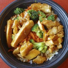 This teriyaki chicken recipe makes enough for you to serve with 4 portions of rice and steamed vegetables.. Teriyaki Chicken Rice Bowl Recipe from Grandmothers Kitchen.