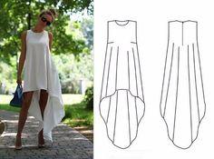 Тренд 2017 года всего за два часа! Летящее платье своими руками | Naget.Ru