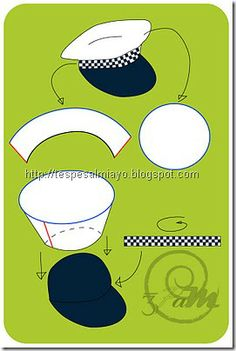 , This is a little special costume, it is true . School is based on road safety. After giving him a pa . , This is a little special costume, it& true . Police Hat, Airplane Party, Diy Hat, Sewing Patterns For Kids, Kids Hats, Nautical Theme, Diy Costumes, Paw Patrol, Preschool Crafts