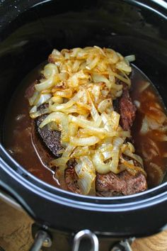 Crock Pot Beef Roast with Caramelized Onions from Miss in the Kitchen  [Featured on SlowCookerFromScratch.com]