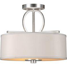 Forte Lighting 3-Light Semi-Flush Mount