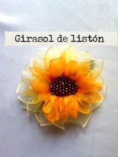 Girasol de Liston, cinta, suscribete a mi canal en Youtube