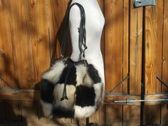 Real Fluffy Bleached Coyote and Shiny Black by DawnONeillDesigns