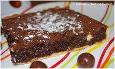 Tarte Chocolat mousseuse et croquante à la fois ... - Cuisiner... tout Simplement, Le Blog de cuisine de Nathalie