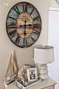 Hoy decorando con relojes vintage gigantes, tendencia total.