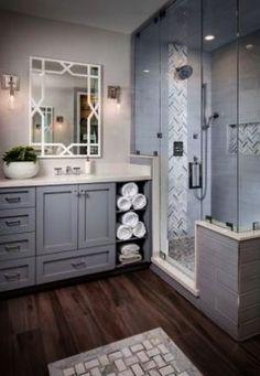 Bathroom design layout 3 Modern Small Bathroom Ideas - Great Bathroom Renovation Ideas That Will Blo Grey Bathrooms, Beautiful Bathrooms, Modern Bathroom, Bathroom Interior, Brown Bathroom, Modern Vanity, Master Bathrooms, Simple Bathroom, Bathrooms Online