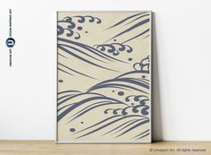 #NeutralWallArt #Japandi #Minimalist #WaveArt #Blue&Beige #OrganicArtist Japanese abstract Wave line art Blue Beige print Organic wall art Ocean line drawing Japandi Minimalist Neutral poster I made this print being inspired by a book Hamonshu: A Japanese Book of Wave and Ripple Designs (1903) by Japanese artist Mori Yuzan. I reconstructed his drawing and in some prints use one of my Ocean Wave Photography as a background. Japanese Books, Japanese Artists, Waves Line, Waves Photography, Japanese Waves, Abstract Waves, Wave Art, Modern Wall Art, Line Drawing