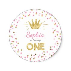 Princess First birthday Paper Plates Pink Gold ♥ A perfect addition to your little one's birthday party! Princess birthday theme with a gold crown and confetti in pink and gold. Princess Theme Birthday, Pink And Gold Birthday Party, Princess Party Favors, Gold First Birthday, First Birthday Invitations, First Birthday Parties, First Birthdays, Happy Birthday, Birthday Ideas