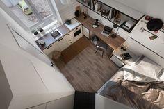 Hogyan lehet bérbeadáshoz használható, önálló kis lakást kialakítani egy mindössze 17m2-es külön területből?