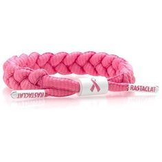 Rastaclat Awareness Bracelet - Pink ($15) ❤ liked on Polyvore featuring jewelry, bracelets, pink, pink bangles, braid jewelry, rastaclat, american jewelry and pink jewelry