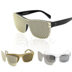 New-Detachable-Gold-Metal-Mesh-Magnetic-Clipon-Hip-Hop-Shades-Cat-Eye-Sunglasses