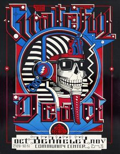 Another classic Rick Griffin design, this poster was produced for a Grateful Dead show at the Berkeley Community Center in This design had not been approv Grateful Dead Shows, Grateful Dead Image, Grateful Dead Poster, Wes Wilson, Dead Images, Tour Posters, Music Posters, San Francisco, Kunst Poster