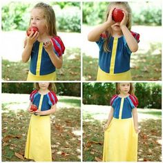 Snow White dress using this pattern http://indietutes.blogspot.com/2007/07/peasant-blouse.html