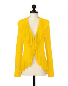 The Appalachian State University Double Layer Cardigan in Gold