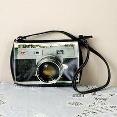 Vintage Graphic Camera Purse