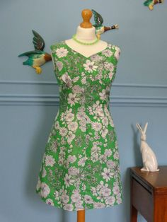 Vintage 50s/early 60s Floral Sun Dress size Medium - £29.99 or Best Offer