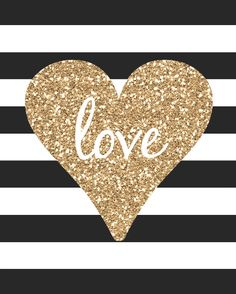 Free Mod Heart printable card. Would be fun to add some real glitter to it.