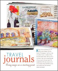 Learn how to make a travel journal using maps, ephemera and basic techniques.