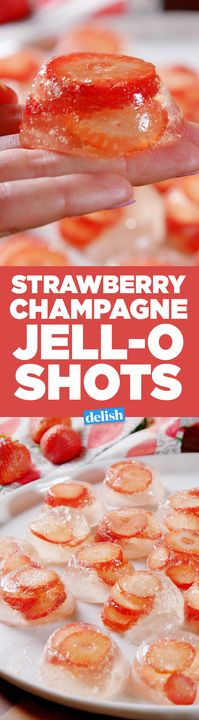 Why sip rosé when you can take Strawberry Champagne Jell-O shots? Get the recipe from Delish.com.