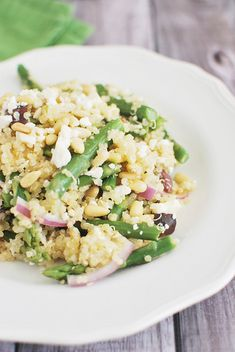 Quinoa Salad with Asparagus, Feta, and Pine Nuts