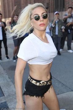 If you've got it, flaunt it: Lady Gaga, 30, left little to the imagination…