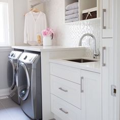Laundry room by Jennifer Reid of Barlow Reid Design!