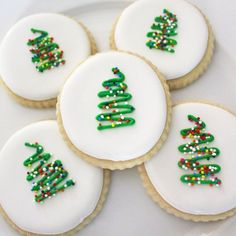 Christmas Sugar Cookies / Simple Christmas Cookies / Christmas Cut Out Cookies / Tree Cut Out Cookies DOZEN) - The most delicious cut out cookies you will ever eat! These cookies are the cutest cookies for a Ch - Easy Sugar Cookies, Christmas Sugar Cookies, Cut Out Cookies, Christmas Sweets, Christmas Cooking, Holiday Desserts, Holiday Baking, Holiday Treats, Holiday Recipes