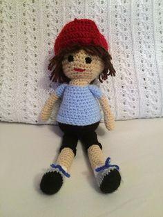 Handmade crochet doll Crochet Toys, Teddy Bear, The Unit, Dolls, Handmade, Ebay, Vintage, Baby Dolls, Hand Made
