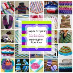 Super Stripes! 30+ Free Crochet Patterns Full of Stripy Goodness