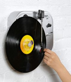 Wall mounted turntable - Very cool!