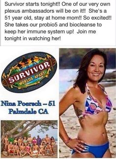 I am posting this AGAIN because I just think it is SO DANG COOL!!! ‪#‎PLEXUS‬ ‪#‎SURVIVOR‬