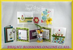 My newest online stamping class created with the new Bright Blossoms Stamp set from Stampin Up:  stampingwithsandi...