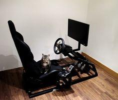 Logitech, Gamer Chair, Racing Simulator, Racing Seats, Woodworking Videos, Arcade, Gadgets, Cool Stuff, Pedestal