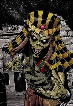 Eddie From album Iron Maiden - Powerslave Heavy Metal Bands, Heavy Metal Rock, Iron Maiden Mascot, Iron Maiden Posters, Eddie The Head, Iron Maiden Band, Rock Legends, Pentacle, Metalhead