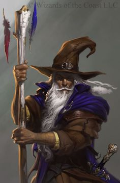 Elminster Aumar, the Sage of Shadowdale, a very cool wizard from the Forgotten Realms. Fantasy Wizard, Fantasy Rpg, Medieval Fantasy, Fantasy World, Dnd Wizard, Wizard Staff, Fantasy Artwork, Fantasy Portraits, Character Portraits