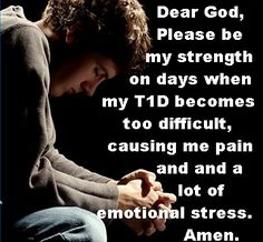 Although my Grandson doesn't let on, I know that he (as well as other kids with T1D) have days that seem just too difficult to handle.  We need to pray for them... and for a cure.