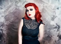 Gothic-PinUp Makeup Tutorial - The Vintage Romance