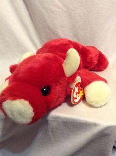 Ty Beanie Buddy Buddies Red Bull Snort Taurus Bean Bag Plush Stuffed Animal Toy #Ty