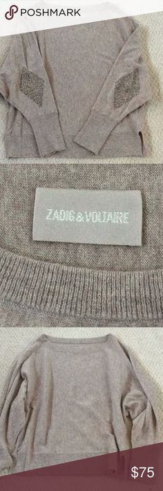 Shop Women's Zadig & Voltaire size M Sweaters at a discounted price at Poshmark. Elbow Patches, Cashmere Sweaters, Sequins, Medium, Things To Sell, Zadig And Voltaire, Medium Long Hairstyles