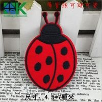 2016 Latest design Children Cartoon Animal Red Sevenspotted ladybugs Iron On Embroidery Felt Patches DIY Clothing Accessories