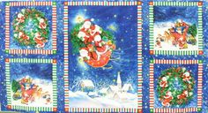 Wilmington Prints 'Tiny Santas' 110 cm x 60 cm we-397-01-0342 https://planet-patchwork.de/de/article/kp/5071/3/