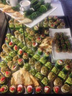 Vegan canape buffet - Kangaroo Kitchen & Catering