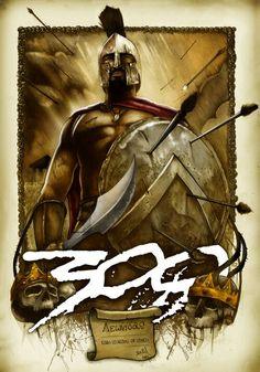 300 - Leonidas - Color Version by on DeviantArt Gerard Butler, 300 Leonidas, 300 Movie, Spartan Tattoo, Greek Warrior, Spartan Warrior, Films Cinema, Classic Movie Posters, Bild Tattoos